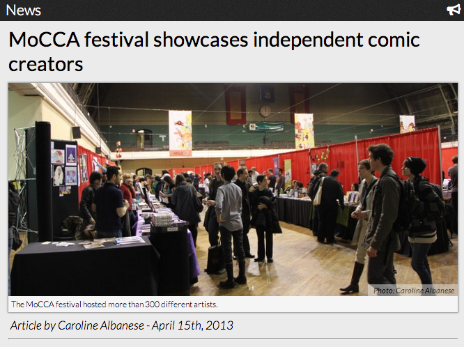 MoCCA festival showcases independent comic creators