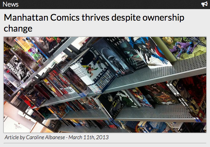 Manhattan Comics thrives despite ownership change
