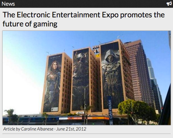 The Electronic Entertainment Expo promotes the future of gaming